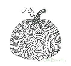 zentangle pumpkin coloring page printable fall coloring 1000 images about coloring pages kleurplaten on