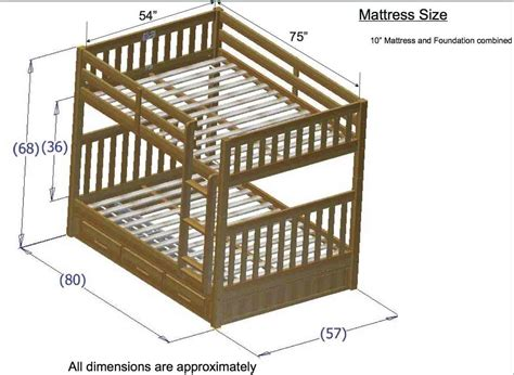 bed dimensions full discovery world furniture honey full over full bunk bed kfs stores
