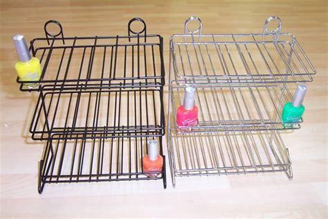 metal nail polish rack salon equipment acrylic nail polish displays for counter
