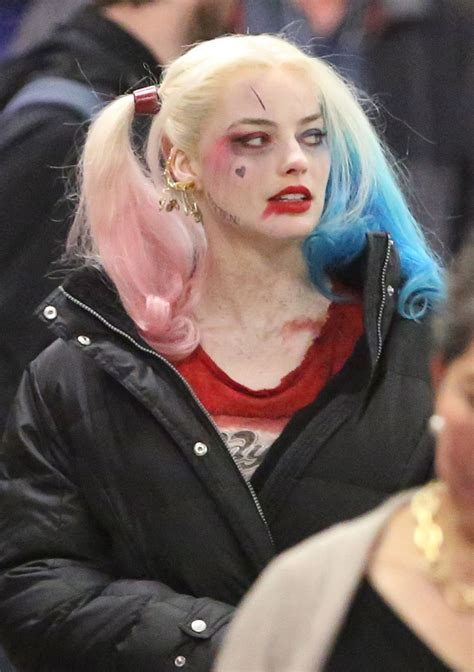 did margot robbie tattoo her suicide squad director on margot robbie on the set of suicide squad in toronto 06 01