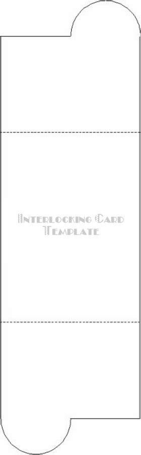 Interlocking Card Template by Craft Supplies Paper Crafts Free Templates Earth