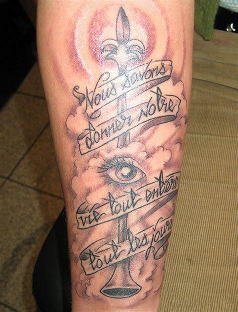 cross tattoo right eye leg tattoo images designs