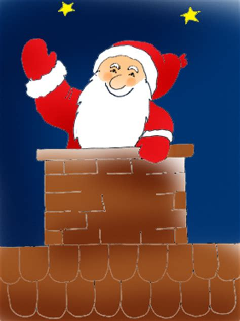 santa chimney clipart 40