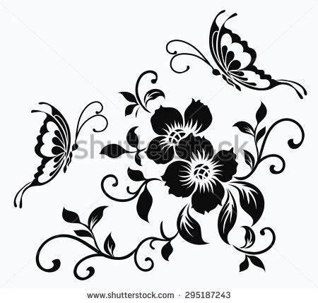 Seprei Motif Orange Blossom 2 flower motifrose sketch stock vector 452901586