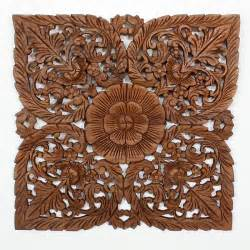 Carved Wood Wall Decor by Wall Decor Nature Carved Wood Photo Gallery Kan Thai Decor