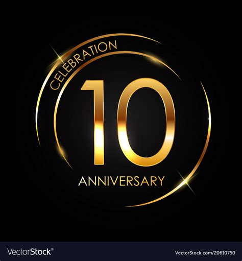 10 year anniversary template 10 years anniversary royalty free vector image