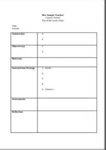 Common Lesson Plan Template by Printable Lesson Plan Template Free To