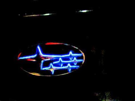 custom subaru emblem led trans emblem subaru youtube