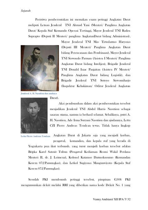Jenderal Besar Nasution G30 S Pki g30 s pki dan supersemar serta disintegrasi bangsa