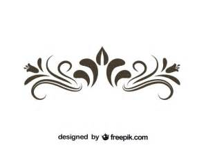 retro floral decorative graphic element vector free