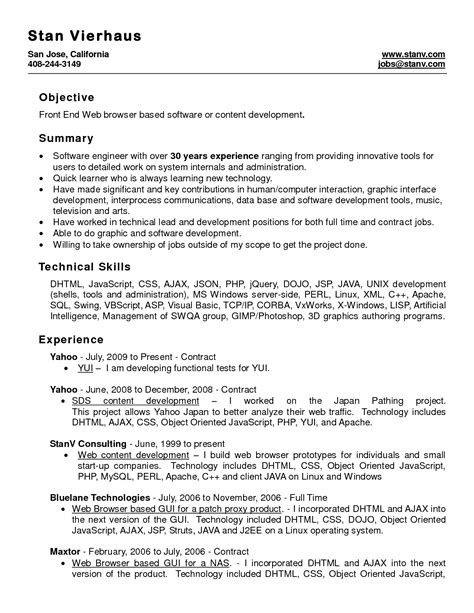top result sample resume format word file awesome word document