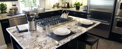 granite countertop kitchen dark cabinets great lakes