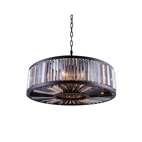 Brown Chandelier Shades Lighting Chelsea 10 Light Mocha Brown Chandelier With Silver Shade Grey
