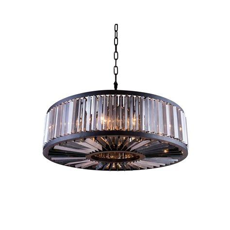 brown chandelier l shades elegant lighting chelsea 10 light mocha brown chandelier