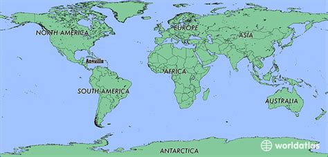 anguilla world map where is anguilla where is anguilla located in the