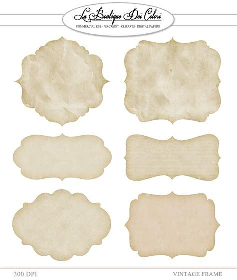 printable paper labels clip art vintage paper frames labels tags digital frames