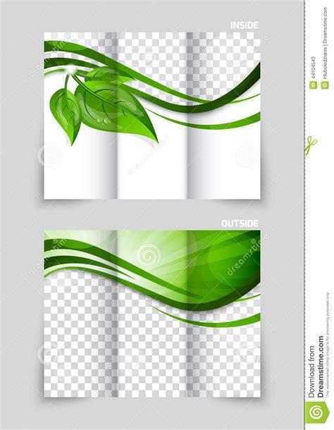 green brochure template tri fold brochure template design stock vector image