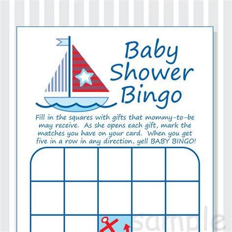 nautical baby shower free printables diy nautical baby shower bingo printable cards