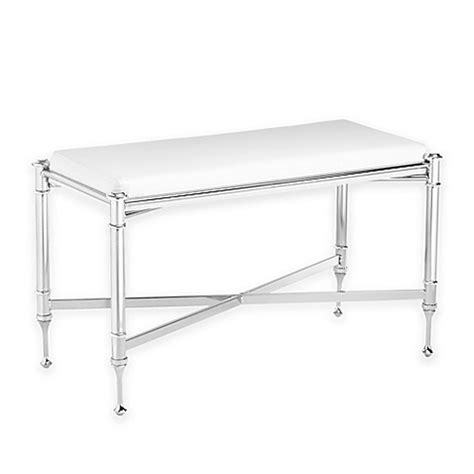 chrome vanity bench taymor large estate vanity bench in chrome bed bath beyond
