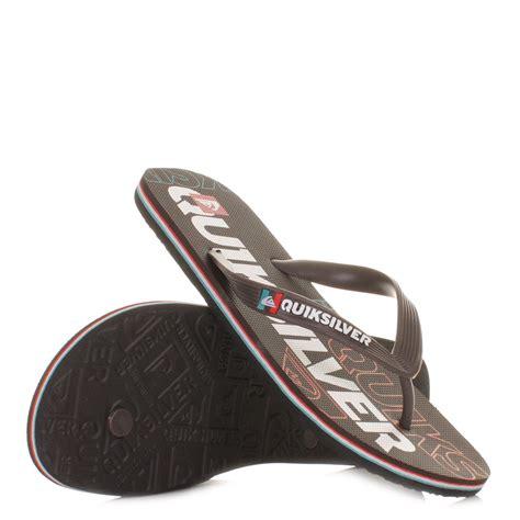 Quiksilver Ql015 White Brown mens quiksilver molokai nitro brown white orange flip flops sandals size 6 12 ebay