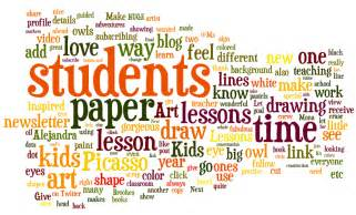 Word cloud for art lessons for kids me
