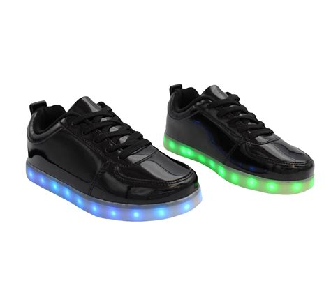 galaxy led shoes light up charging low top s