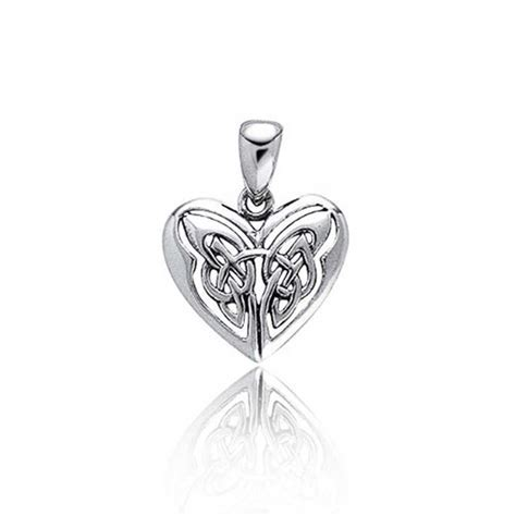 Celtic Butterfly Heart Sterling Silver Pendant