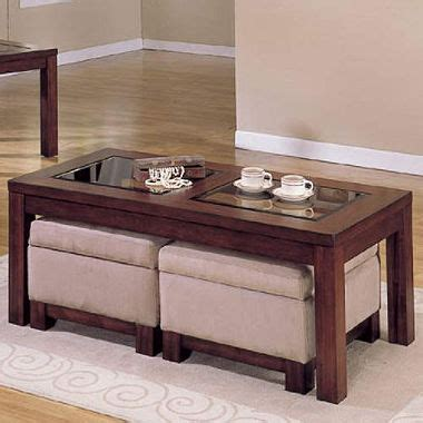 Coffee Table With Storage Ottomans Lisbon Coffee Table W 2 Storage Ottomans Sam S Club