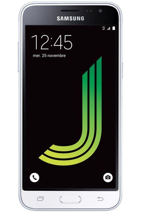 mobile telephone smartphone samsung galaxy j3 2016 blanc galaxy j3