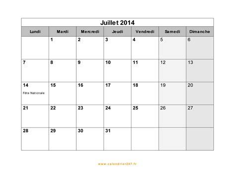Calendrier Juillet Calendrier Juillet 2014 224 Imprimer Gratuit En Pdf Et Excel