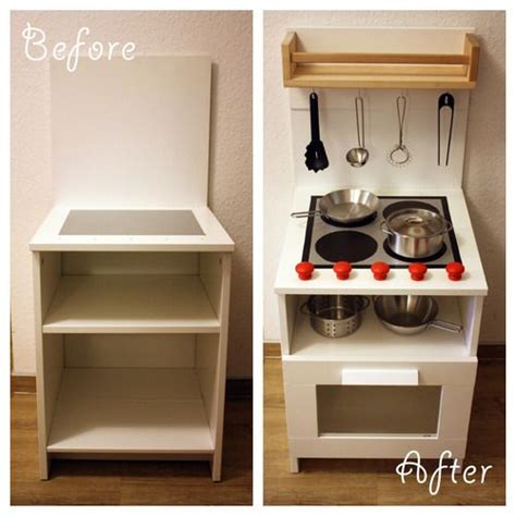 diy ikea play kitchen hack kitchen hacks cabinets and diy play kitchen made from a bedside cabinet diy ideas