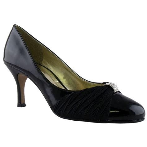 black patent mid heel evening court shoes size 8 ebay