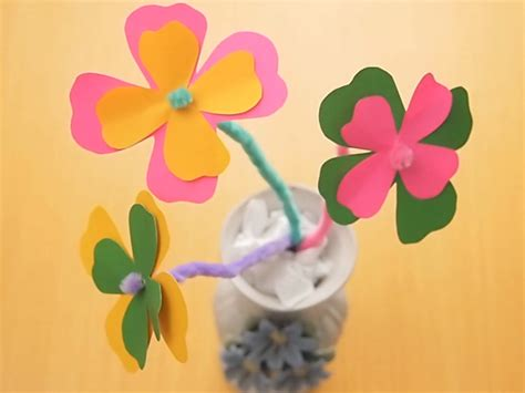 How To Make A Flower Out Of Construction Paper - how to make a paper flower 11 steps with pictures wikihow