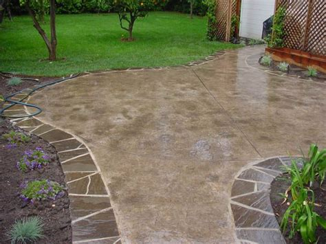 concrete backyard design 12 best images about patio ideas on pinterest patio