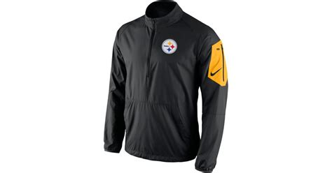 Promo Jaket Denim Hoodie Black Garment Murah nike s pittsburgh steelers lockdown half zip jacket in black for lyst