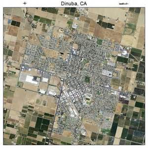aerial photography map of dinuba ca california