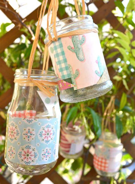 lanterne da giardino fai da te come fare delle lanterne fai da te patchwork con barattoli