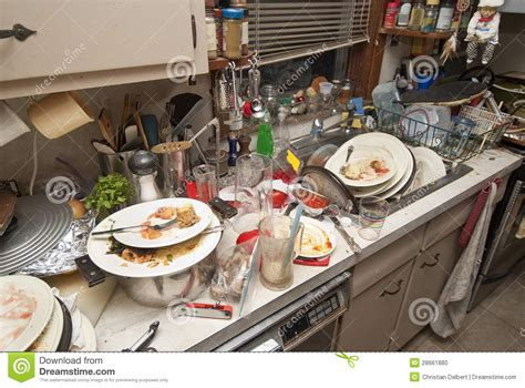 Top Kitchen Faucet by Dirty Dishes Stock Photo Image Of House Mess Tiles