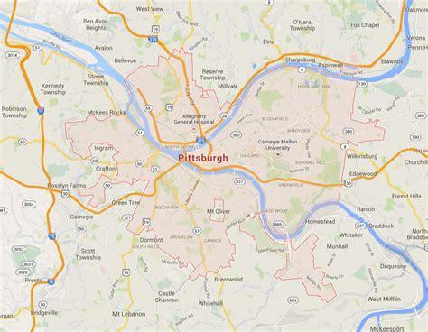 map of usa pittsburgh pittsburgh pennsylvania map
