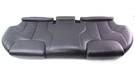 leather bench seat cushions back rear seat cushion bench black leather 06 10 vw passat