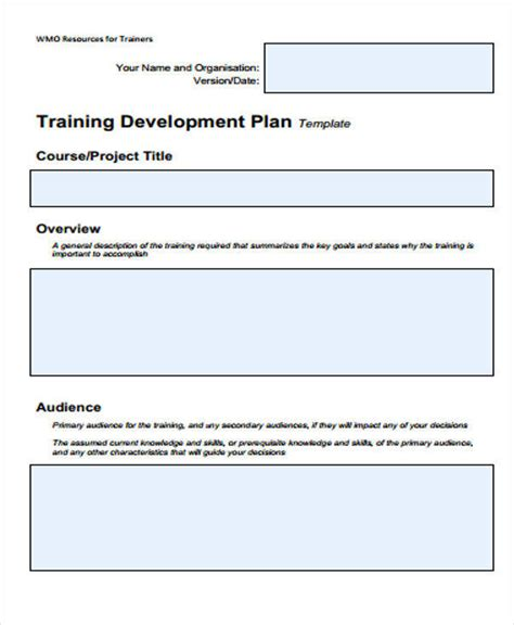 5 training plan sles templates in pdf