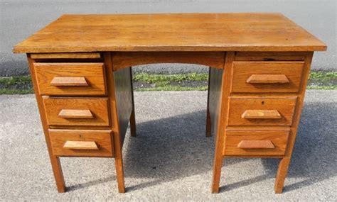 Oak Office Desks Uk Oak Pedestal Kneehole Office Writing Desk 241828 Sellingantiques Co Uk