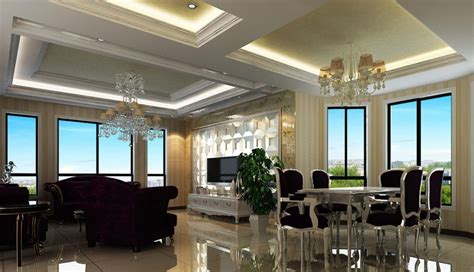 neo classical interior design living and dining