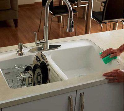 """Wilsonart HD """"Luna Winter"""" with undermount sink & beveled"""