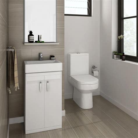 nova cloakroom suite floor standing basin unit close