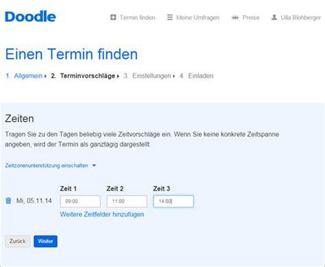 doodle umfrage starten terminplanung mit doodle pcs cus
