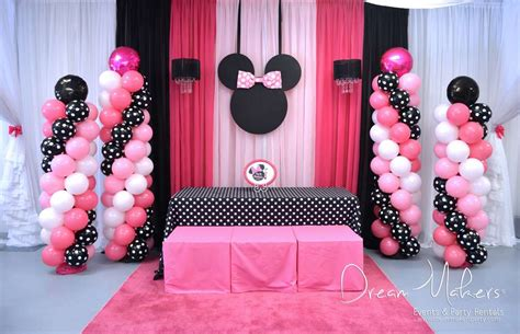 Minnie Mouse Decoration Ideas by Minnie Mouse Polka Dots Birthday Ideas Photo 9 Of