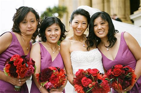 Wedding Hair And Makeup Bay Area by With Bridesmaids In Lavender Twist
