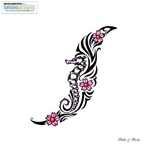 tribal seahorse tattoo designs pinterest