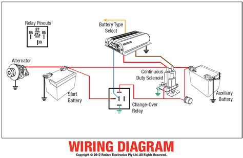 home redarc wiring diagram dual battery solenoid home